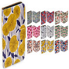 For Huawei Series - Floral Pattern Print Flip Case Wallet Mobile Phone Cover #2