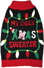 Black Ugly Christmas Dog Sweater by Fashion Pet in several sizes