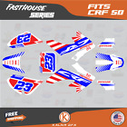 Honda Crf50 Graphics Decal Sticker Kit Crf 50 2004-2020 Fh Series - Red Blue