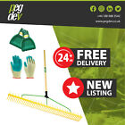 48 TOOTH POLYPROPYLENE LANDSCAPE RAKE - Leaf Scoop Grab & Gardening Gloves