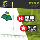 18 TOOTH ALUMINIUM LANDSCAPE RAKE - With Leaf Scoop Grab Hands