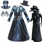 Kids Steampunk Plague Doctor Cosplay Fancy Dress Bird Beak Mask + Hat + Gloves