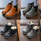 Child Kid Ankle Boots Boys Girls Winter Warm Snow Boots Chelsea Fur Lined Shoes