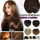 Unisex Topper Hairpiece As Human Hair Pieces Toupee Top Bangs Hair Extensions US