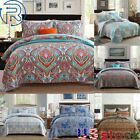 Pure Cotton Quilted Three-piece Bed Cover Set Queen Size Double-Sided 3.2KG