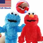 "Hand Puppets 12"" Sesame Street Elmo Cookie Monster Soft Plush Toy Doll Xmas Gift"