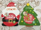 Rising Star Milestones 6 Baby Belly Stickers-My 1st Santa or My 1st Christmas