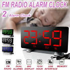 Projection Projector  5'' LCD Digital LED Clock FM Radio Alarm Snooze Clock USA