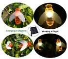 Solar Led Outdoor WATERPROOF Bee String Lights For White Bulbs With Powered And