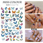 3d Butterfly Nail Stickers Waterproof Nail Art Design Diy Decal Pink Flower - Uk