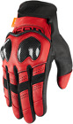 ICON Contra 2 Leather Motorcycle Gloves RED