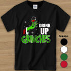 Drink Up Grinches Drinking Wine Grinch Gift Shirt, Men's T-Shirt 2020 Black
