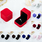 Uk Squre Velvet Earrings Necklace Ring Box Jewelry Display Case Jewellery Boxes