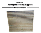 QUALITY PRESSURE TREATED VENETIAN HIT AND MISS FENCE PANEL SLATTED FENCE PANEL