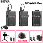 Boya BY-WM4 Pro K1 K2 Dual Channel 2.4G Wireless Studio Condenser Microphone