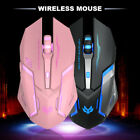 T1 Rechargeable Wireless Silent LED Backlit USB Optical Ergonomic Gaming Mouse