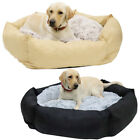 Warm Pet Dog Cat Calming Beds Comfy Fabric Nest Mattress Cosy Donut Pad House