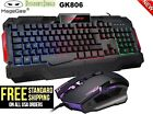 Redragon S101 RGB/ GK806 Wire Gaming Keyboard and Mouse Combo Backlit 104Key PC