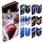 For Samsung Galaxy Series - Shark Theme Print Wallet Mobile Phone Case Cover #2