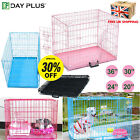 Dog Puppy Metal Training Cage Crate Folding Carrier S M L XL XXL size Pink Blue