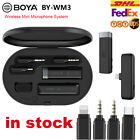 BOYA BY-WM3 Mini Wireless Microphone System For DSLR Smartphone Vlog Live tream