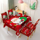 Red Christmas Tablecloth Chair Cover Waterproof Dining Table Cloth Home Decor