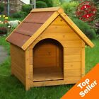 Insulated Dog Kennel House WeatherProof Easy Clean Wooden Outdoor Winter Pet NEW