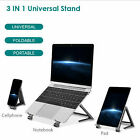 3 in 1 Stand for Laptop cell phone Pad holder Universal Aluminum alloy foldable