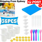 36x Diy Silicone Mixing Measuring Cups Uv Resin Mold Diy Casting Jewelry Tool Au