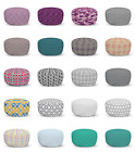 Ambesonne Abstract Layout Ottoman Pouf Decor Soft Foot Rest & Removable Cover