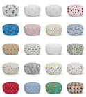 Ambesonne Cartoon Nursery Ottoman Pouf Decor Soft Foot Rest & Removable Cover
