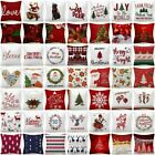 "Throw PILLOW COVER Christmas Decorative Xmas Double-Sided Cushion Case 18x18"" US"