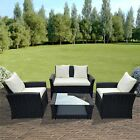 Rattan Garden Furniture Conservatory Sofa Set 4 Seat Table Chair Armchairs Patio