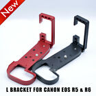 Black L Bracket for Canon EOS R5 R6 Hand Grip Camera Holder L Vertical Plate