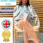 Disposable Barber Gown Apron Salon PPE plastic Hairdressing Cape UK MADE QUALITY <br/> UK MANUFACTURER Clear & See Through not a Cheap import!