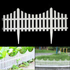12pack Plastic Fence Panel Garden Border Landscape Edging Yard Fencing Decor