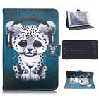 "Gift For iPad 6th Generation 9.7"" 2018 Keyboard Printed Leather Stand Case Cover"