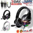 For PS4 Gaming Headset Xbox one Headphone with RGB Surround Sound Mic
