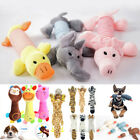 Plush Pet Puppy Sound Chew Play Squeaker Squeaky Soft Funny Cute Dog Toys UK