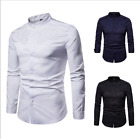 Men's royal court style embroidered long sleeve shirt and stand collar shirt