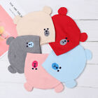 Boys Girls Soft Toddler Kids Baby Knit Hat Thick Warm Cartoon Cute Beanie Cap