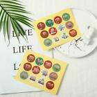 1-24 Number Stickers Christmas Sealing Adhesive Label Paper Xmas Stickers M2f8