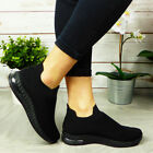 Womens Running Trainers Ladies Sneakers Slip On Jogging Gym Comfy Fashion Shoes