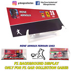 F1 Car Collection INLAY DISPLAY Showcase RENE ARNOUX PACK / 1:43