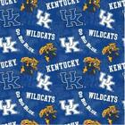 University of Kentucky, Wildcats, UK, Fabric by the Yard, Fabric by the Half Yar