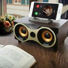 Portable Wireless Bluetooth Speaker Wooden Subwoofer Radio Fm For Iphone Android