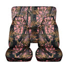 Universal Front + Back Camouflage Design Car Seat Covers Full Sets Protect Mat