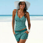Women Tankini Swimwear Beachwear Bikini Set Push-up Padded Swimsuit Bathing Suit
