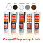 General Purpose Silicone C3 Cartridge 280ml Sealant Clear White Brown Black Grey