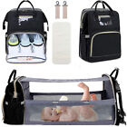 3 in 1 Travel Diaper Bag Backpack, Baby Portable Crib, Bassinet bed Changing Mat